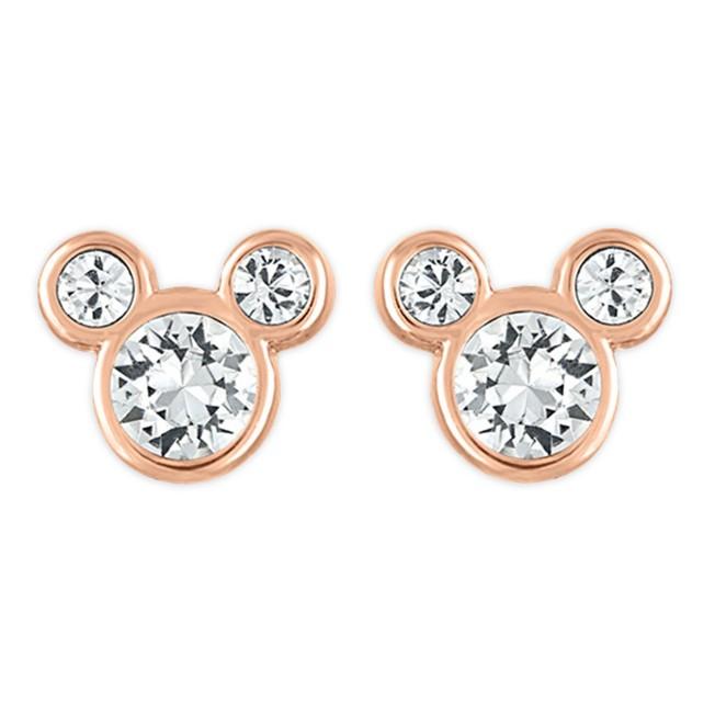 Mickey Mouse Icon Swarovski Crystal Earrings