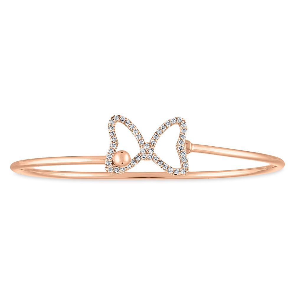 Minnie Mouse Rose Gold Cuff Bracelet