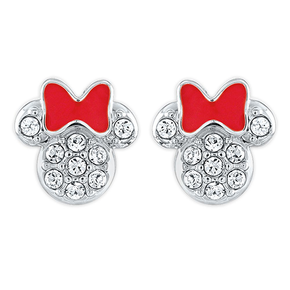 Minnie Mouse Icon Swarovski Crystal Earrings