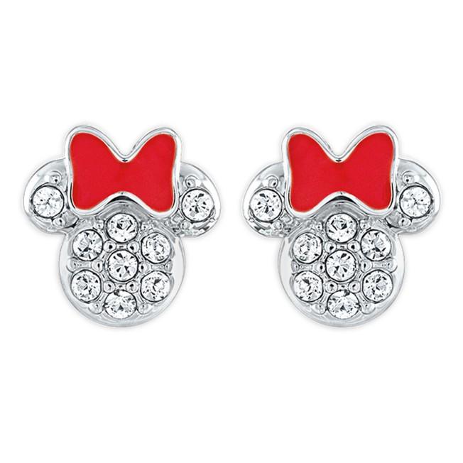 Minnie Mouse Icon Swarovski Crystal Earrings