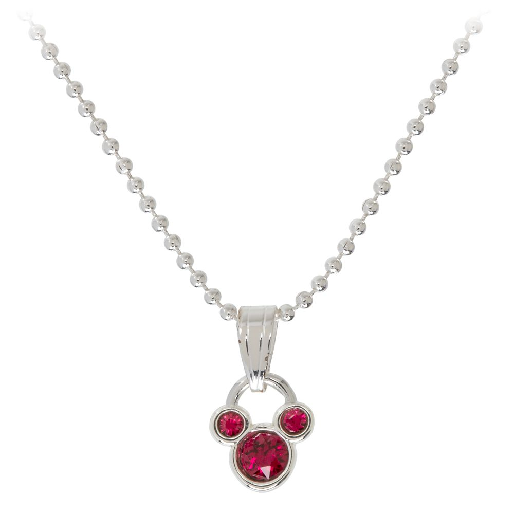 Mickey Mouse Icon Birthstone Necklace – January