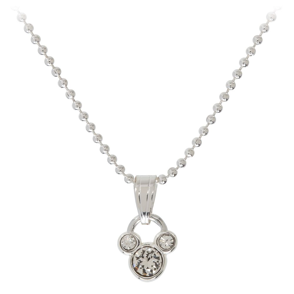Mickey Mouse Icon Birthstone Necklace – April