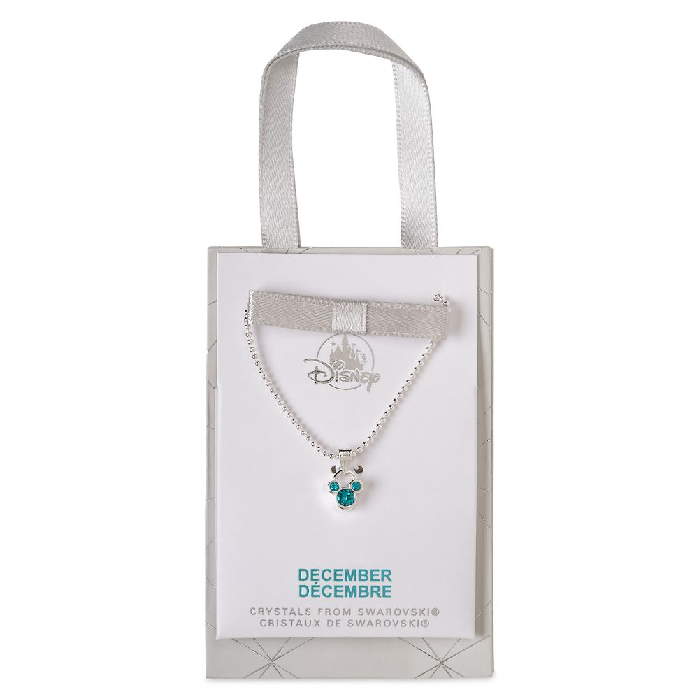 Mickey Mouse Icon Birthstone Necklace – December