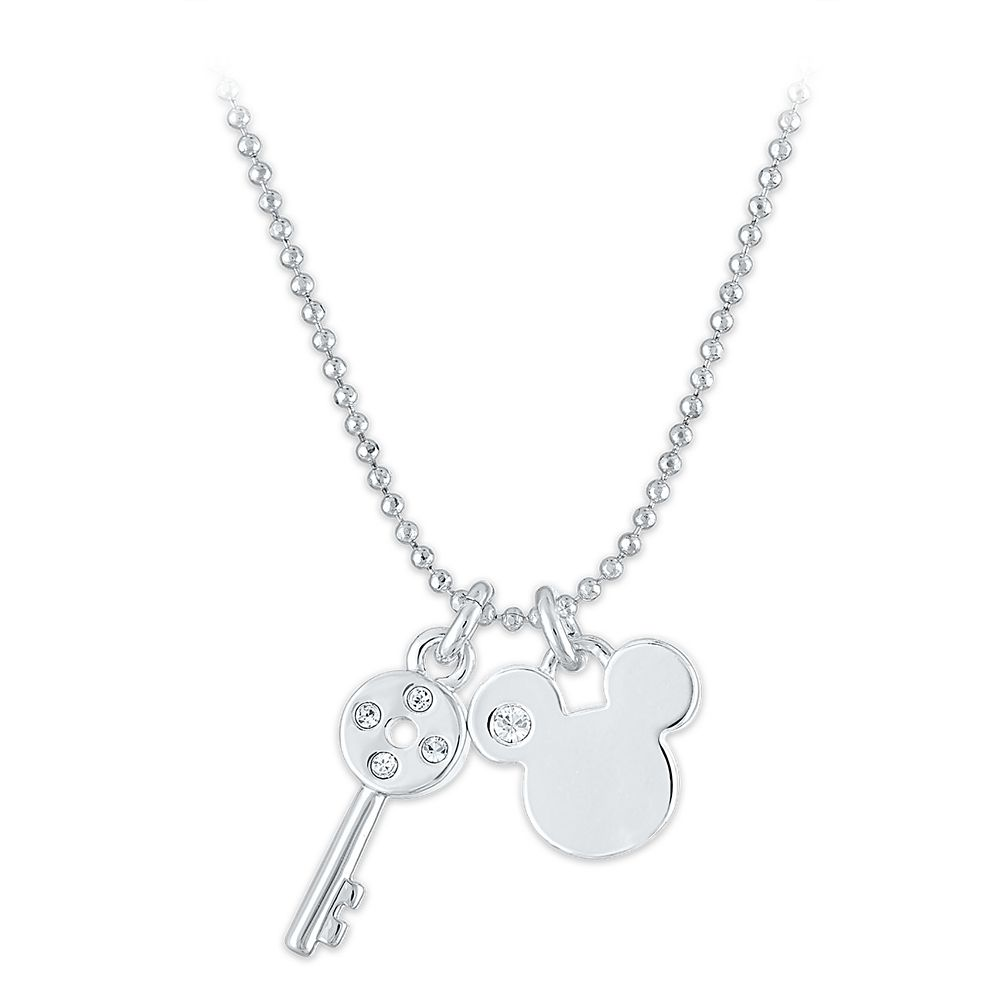 Mickey Mouse and Key Pendant Necklace