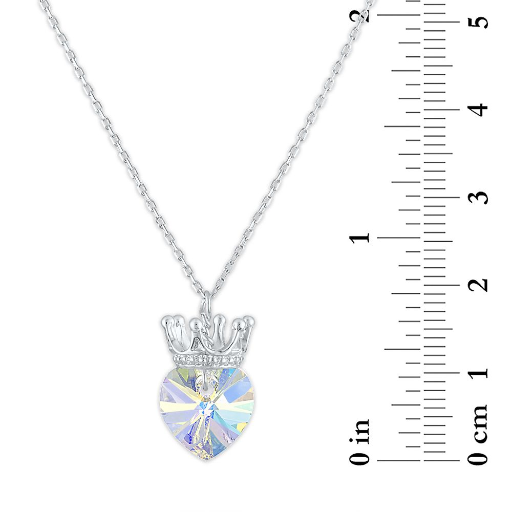 Disney Princess Crystal Heart Crown Necklace