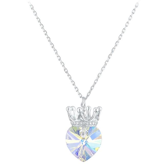 Disney Princess Crystal Heart Crown Necklace