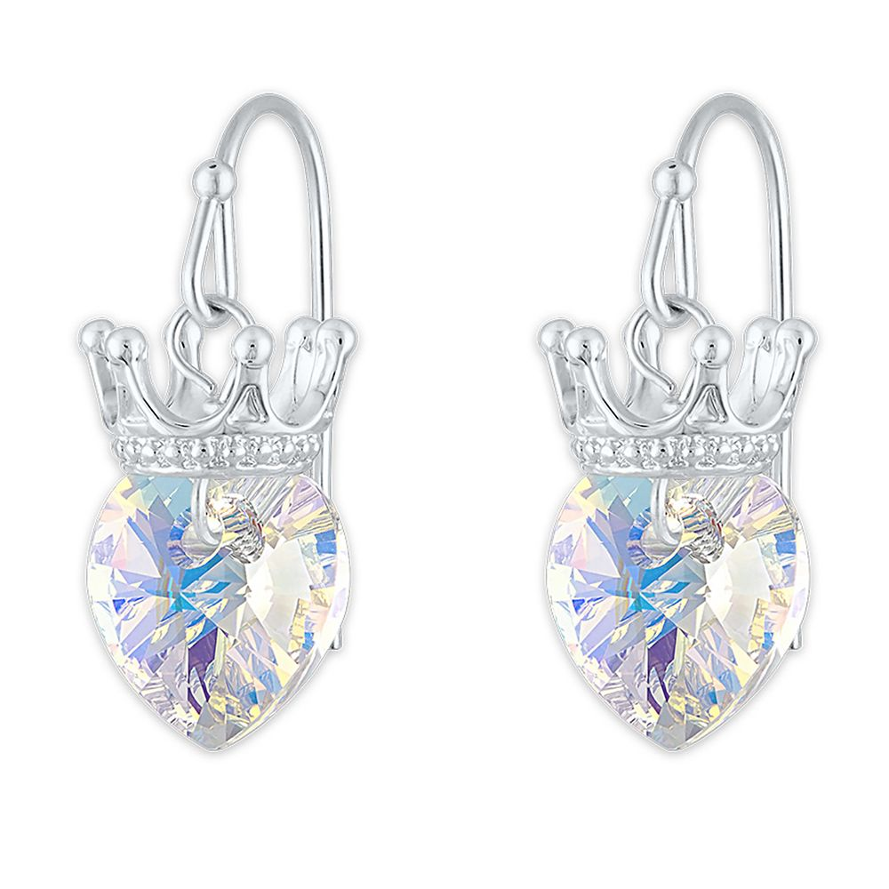 Disney Princess Crystal Heart Crown Earrings