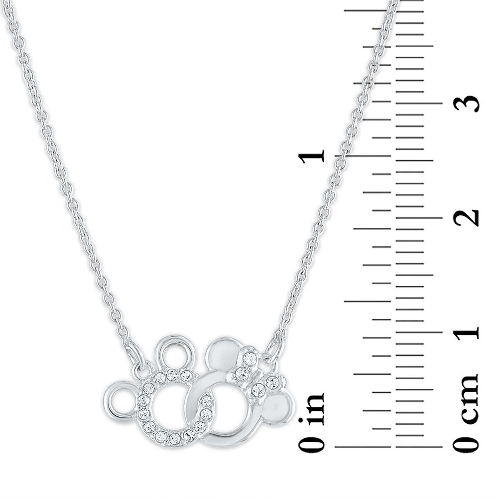 Mickey and Minnie Mouse Interlocking Icons Necklace