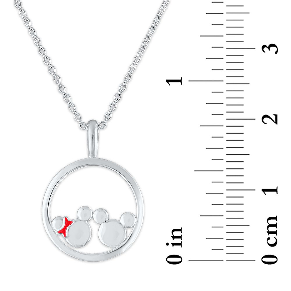 Mickey and Minnie Mouse Circle Necklace