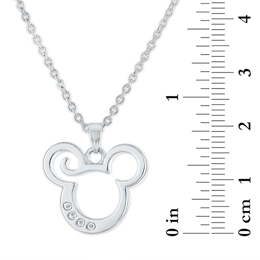Mickey Mouse Cut-Out Icon Pendant Necklace