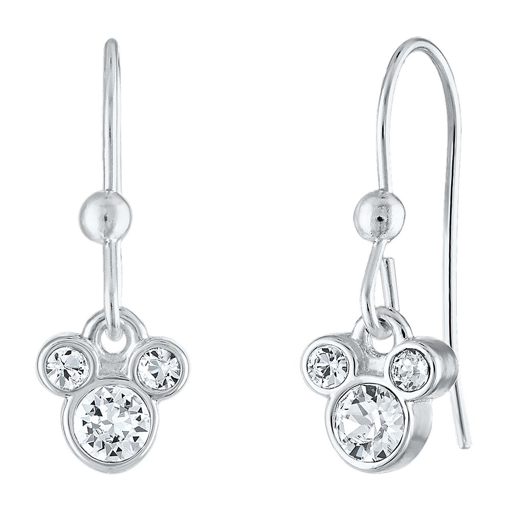 Mickey Mouse Crystal Icon Wire Earrings