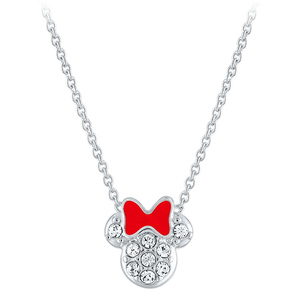 Minnie Mouse Crystal Pendant Necklace