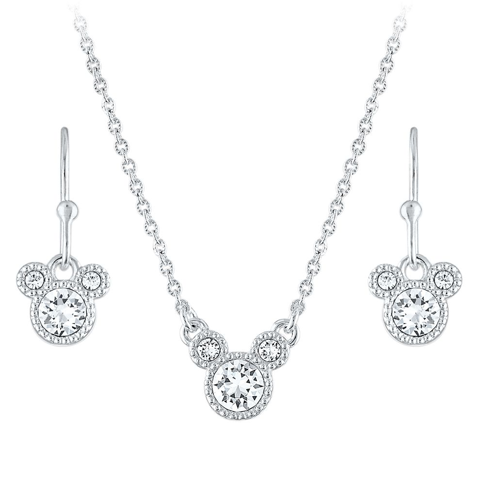 Mickey Mouse Icon Necklace and Earring Set Official shopDisney