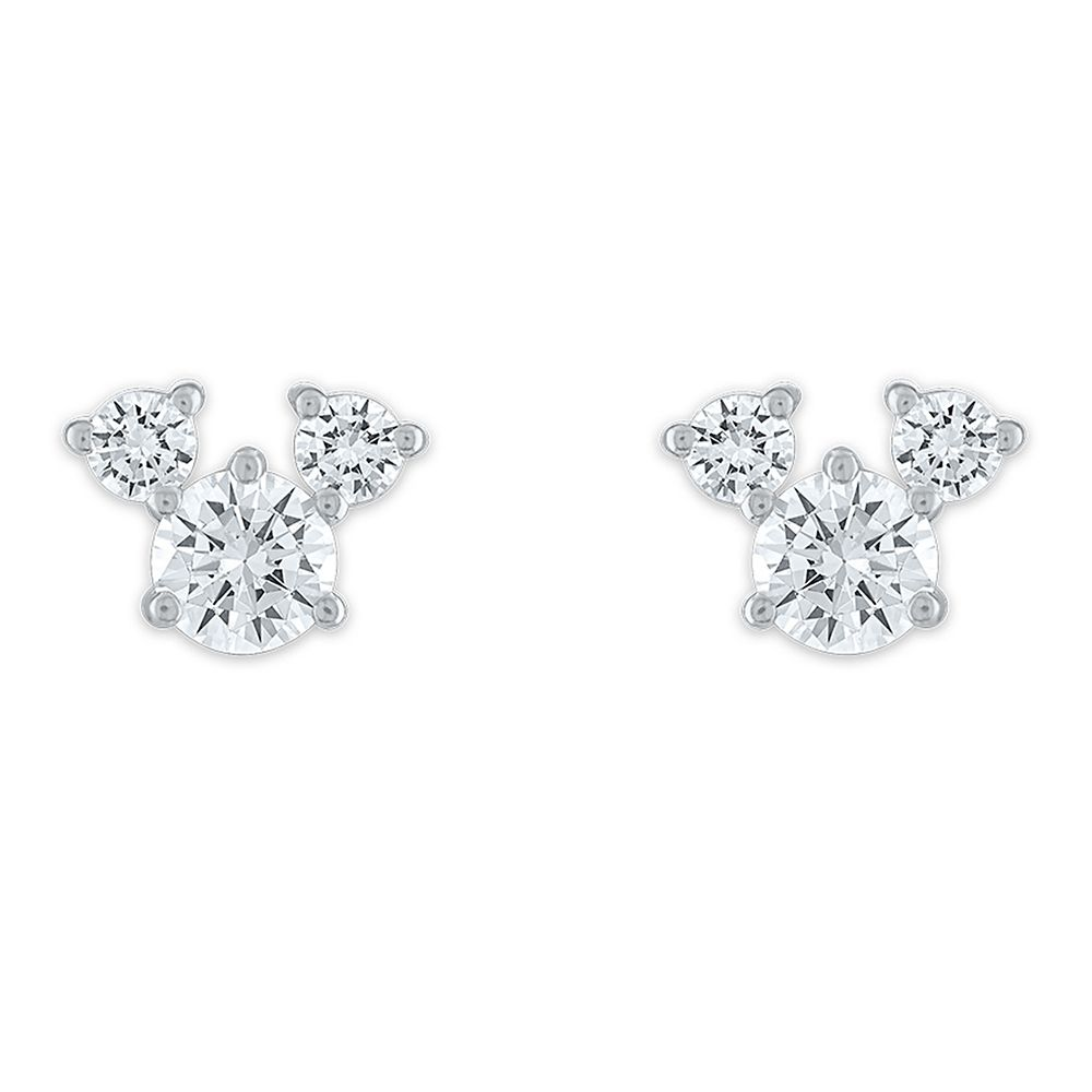 Mickey Mouse Icon Sterling Silver Stud Earrings