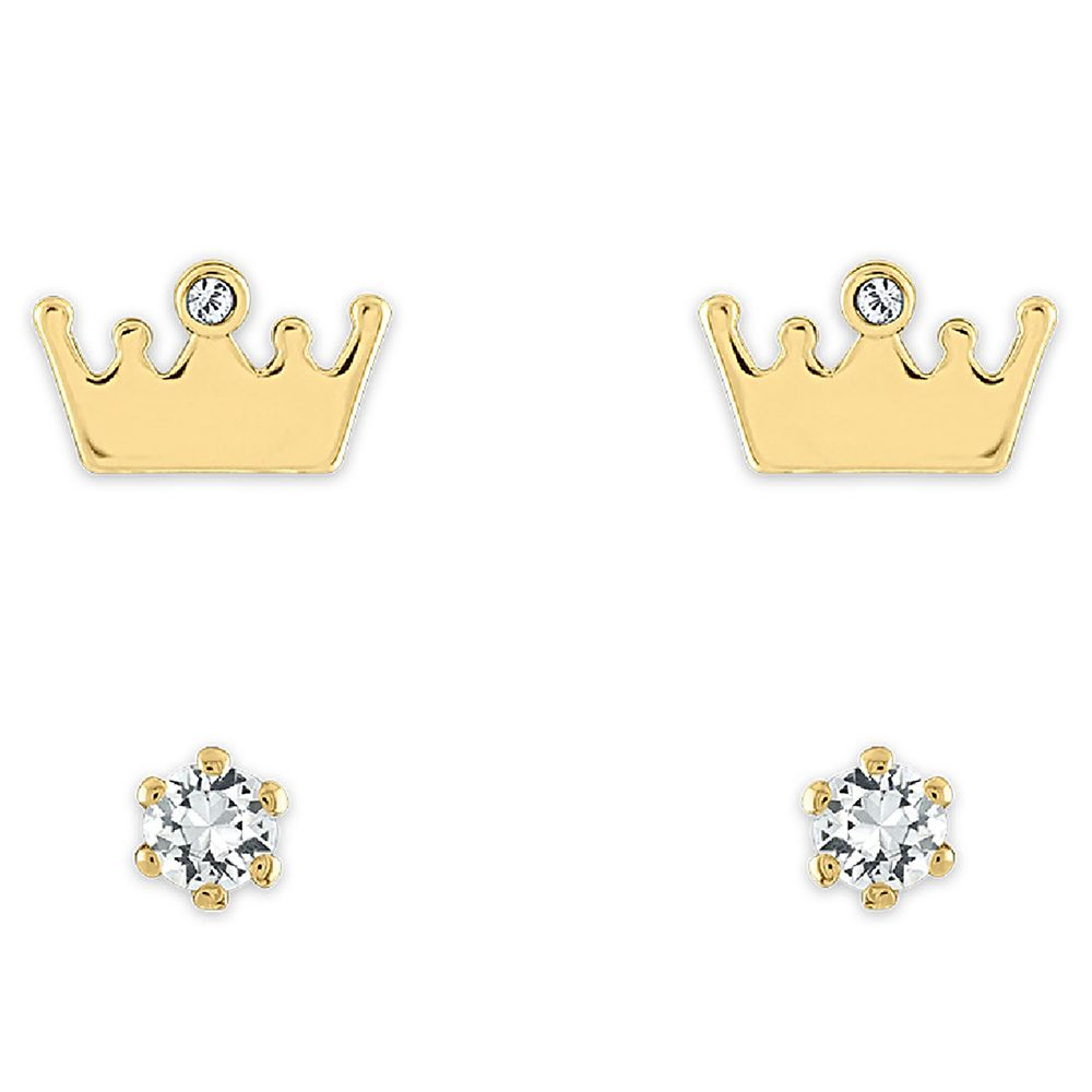 Disney Princess Crown and Stud Swarovski Crystal Earring Set