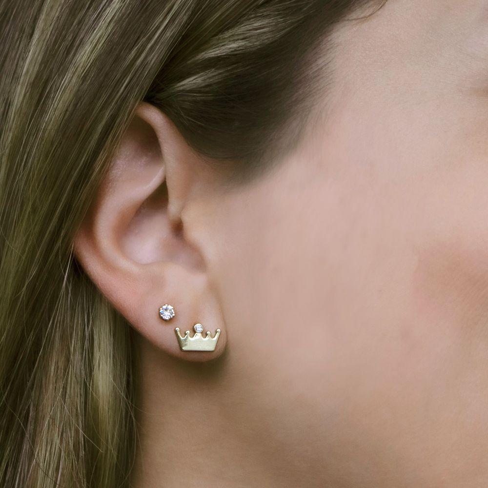 Disney Princess Crown and Stud Swarovski Crystal Earring Set