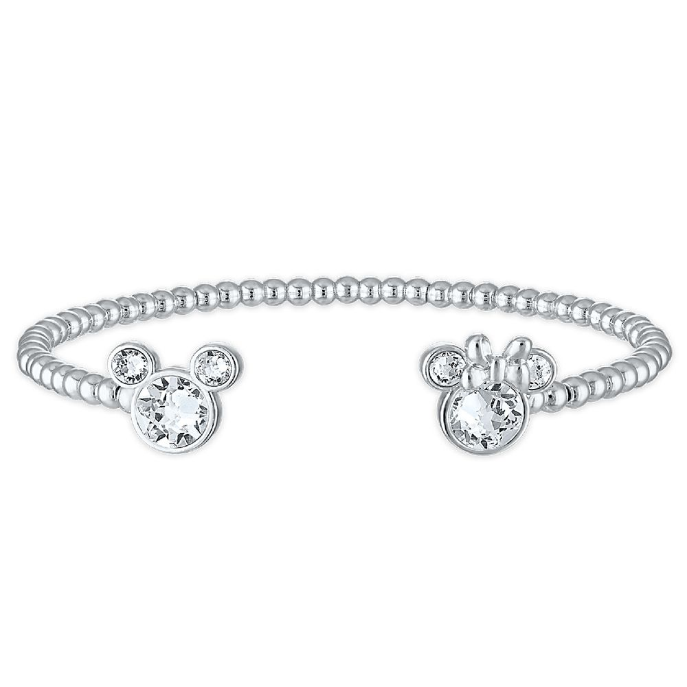 Mickey and Minnie Mouse Swarovski Crystal Bracelet