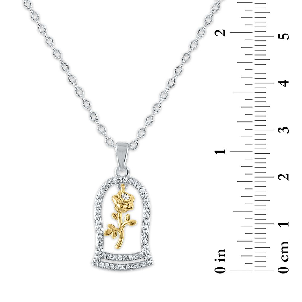 Enchanted Rose Swarovski Crystal Necklace – Beauty and the Beast