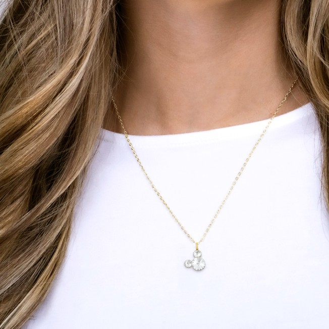 Mickey Mouse Icon Swarovski Crystal Necklace