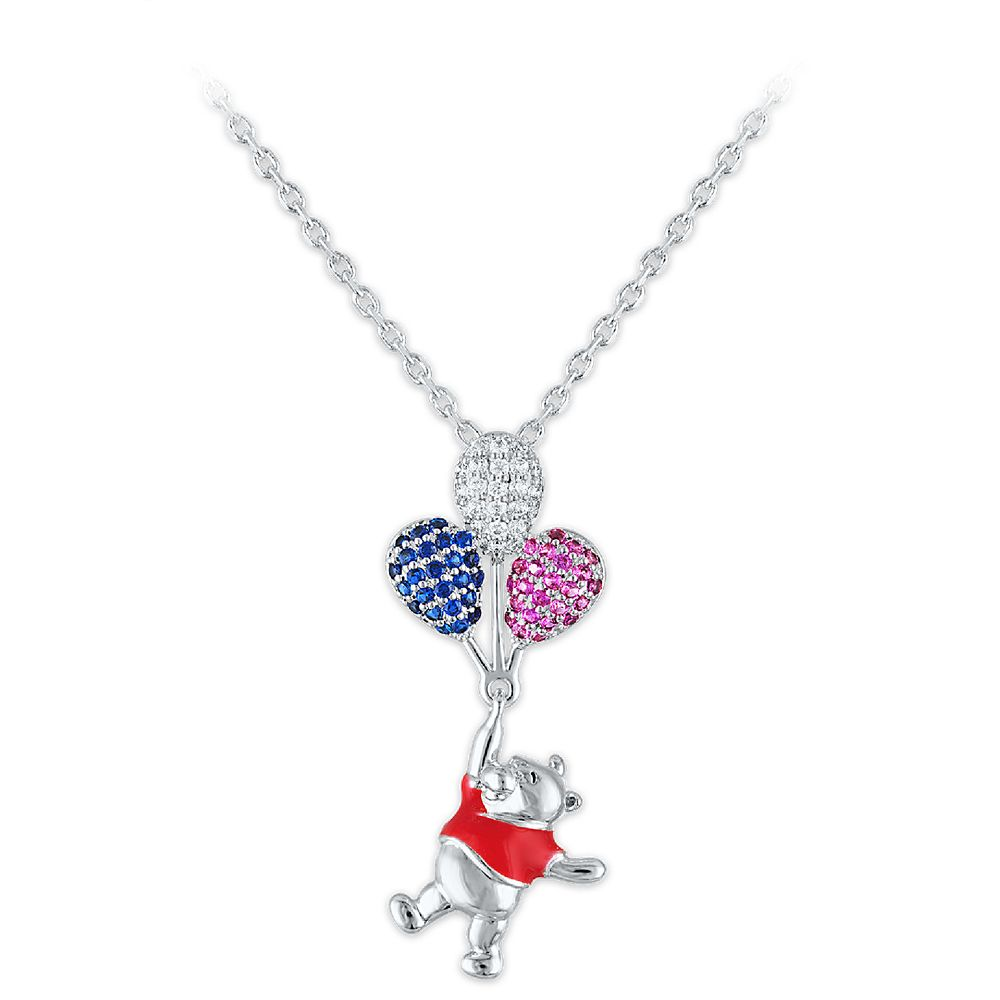 Winnie the Pooh and Balloons Swarovski Crystal Necklace