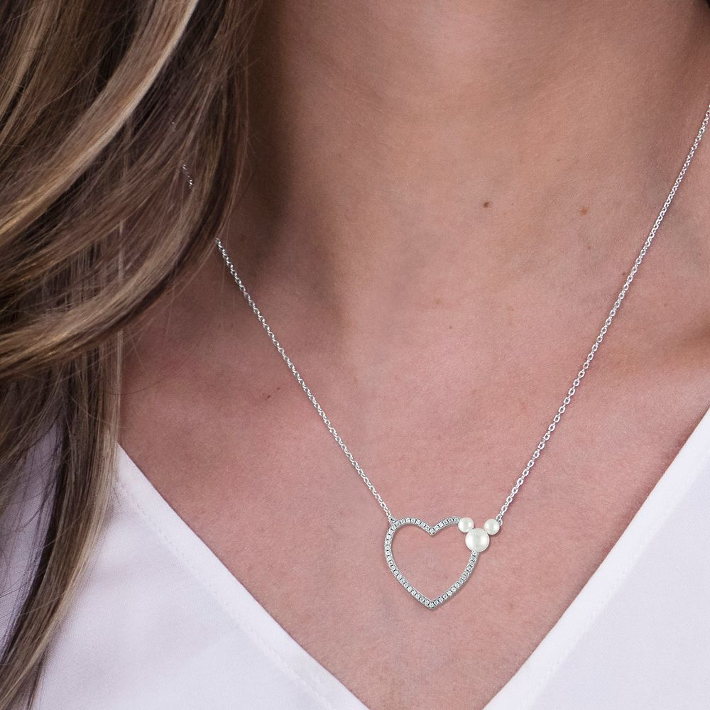Mickey Mouse Icon Heart Necklace