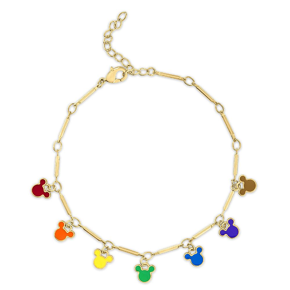 Mickey Mouse Enamel Rainbow Icon Bracelet