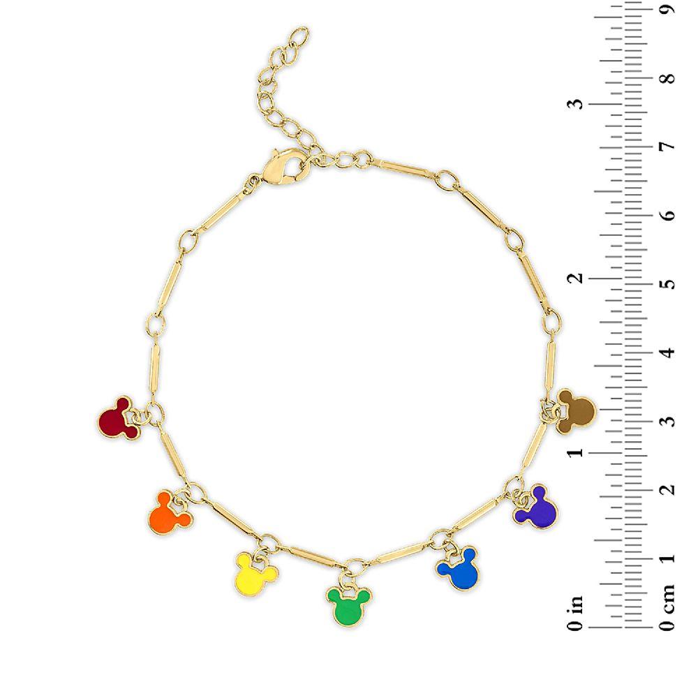 Mickey Mouse Enamel Rainbow Icon Bracelet