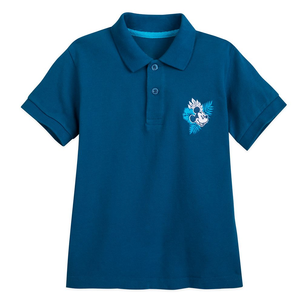 Mickey Mouse Aloha Pique Polo Shirt for Boys – Hawaii