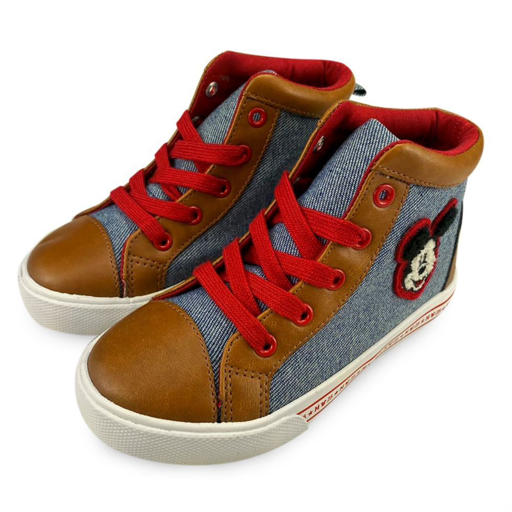 Mickey Mouse High-Top Sneakers for Kids