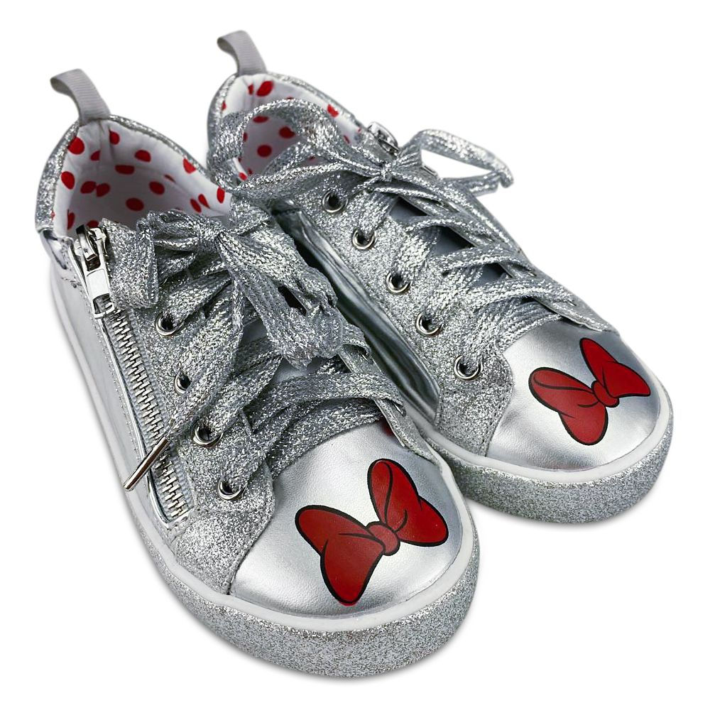 Minnie Mouse Grayscale Sneakers for Girls