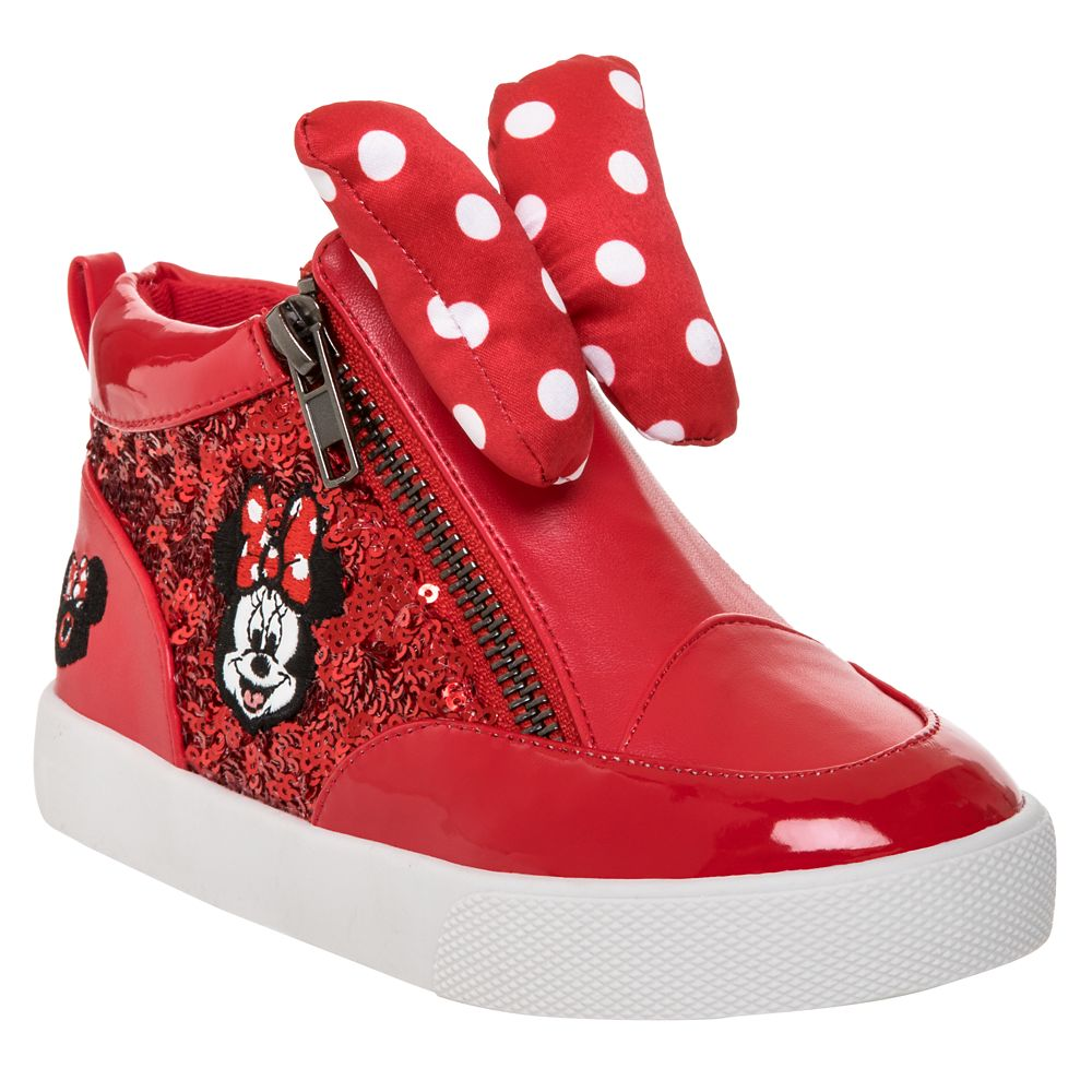 Minnie Mouse Mouseketeer Hi-Top Sneakers for Girls
