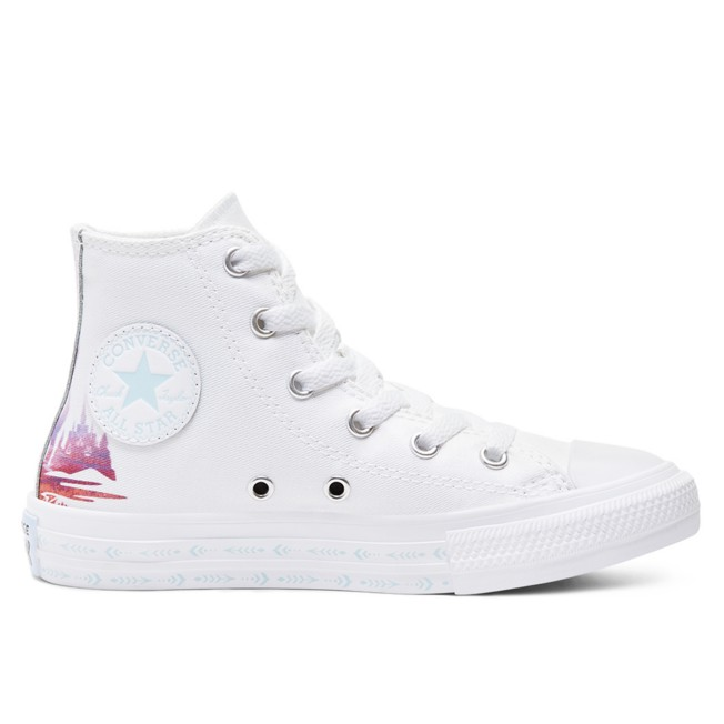 Frozen 2 High-Top Sneakers for Kids by Converse – White