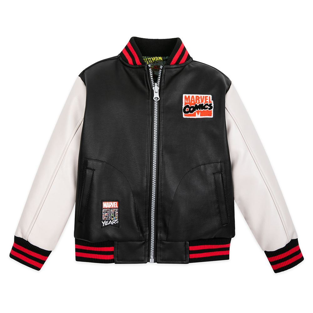 Marvel Comics 80th Anniversary Reversible Varsity Jacket for Kids