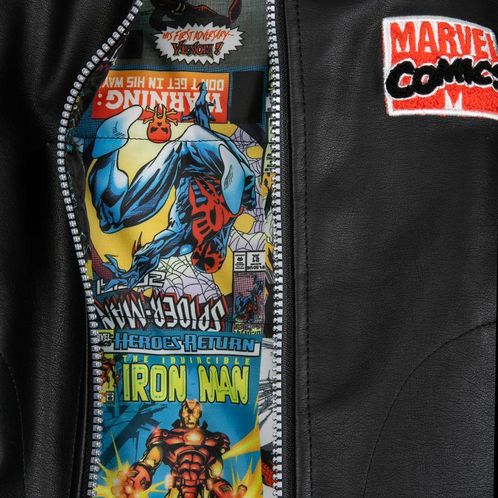Marvel Comics 80th Anniversary Reversible Varsity Jacket for Kids