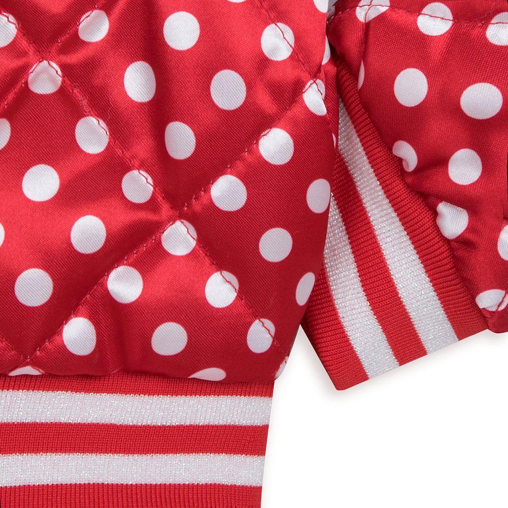 Minnie Mouse Polka Dot Varsity Jacket for Girls