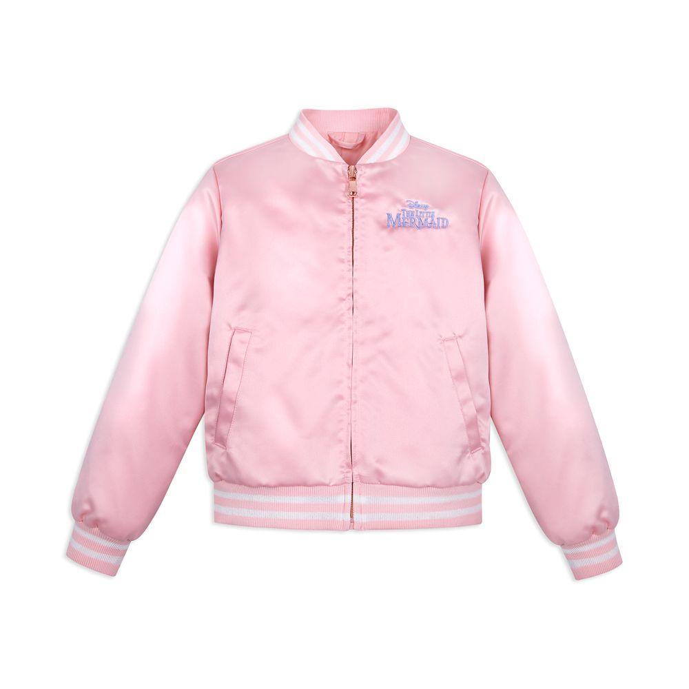 The Little Mermaid Satin Bomber Jacket for Girls