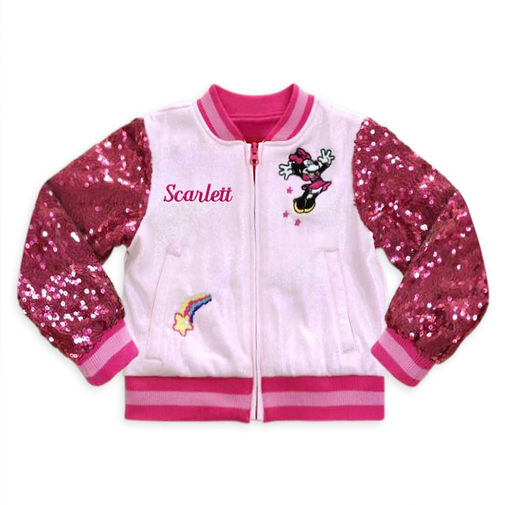 Disney Minnie Mouse Varsity Jacket for Girls ? Personalized