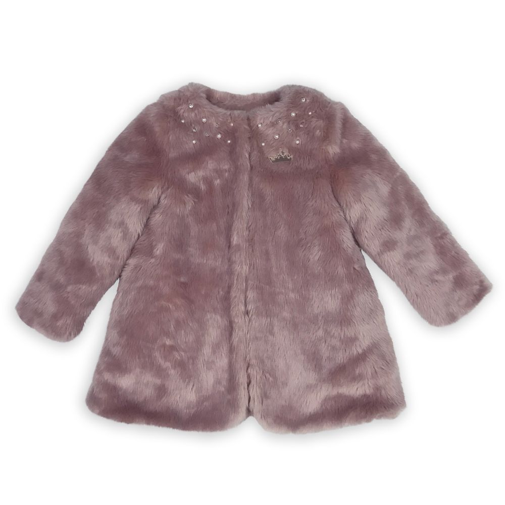 Disney Princess Pink Faux Fur Jacket for Girls