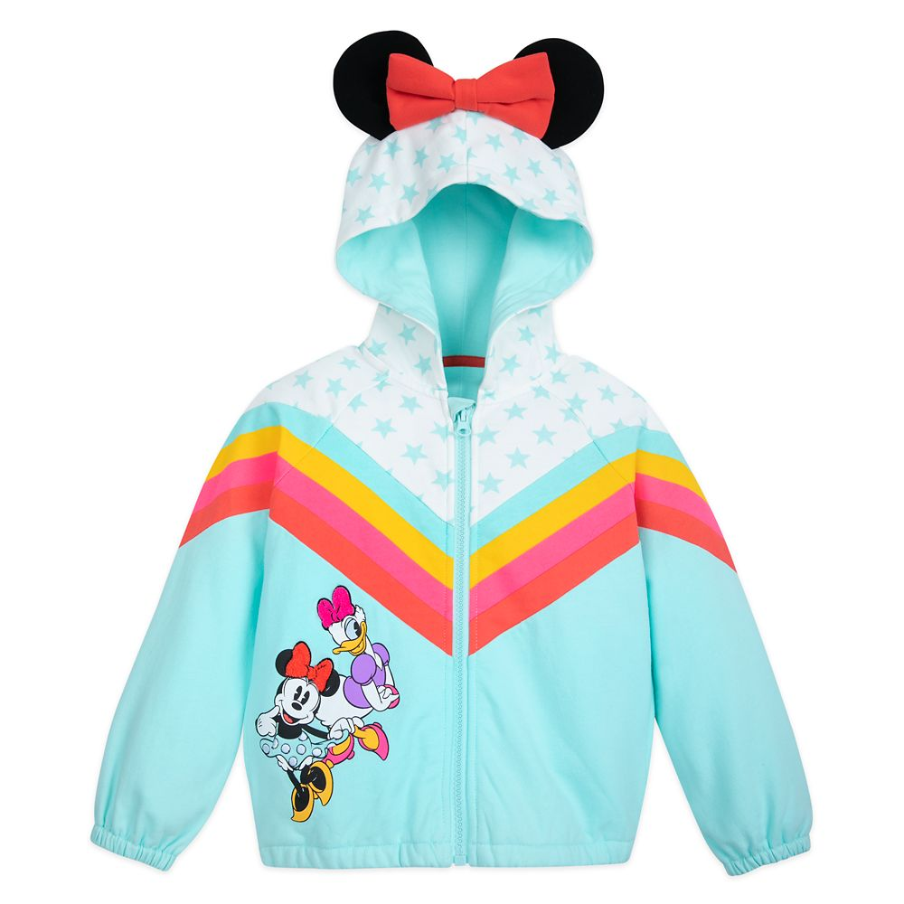 Minnie Mouse and Daisy Duck Hooded Jacket for Toddlers