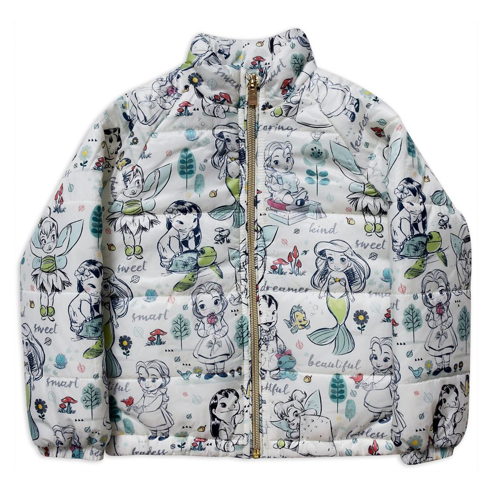 Disney Animators' Collection Lightweight Puffy Jacket for Girls