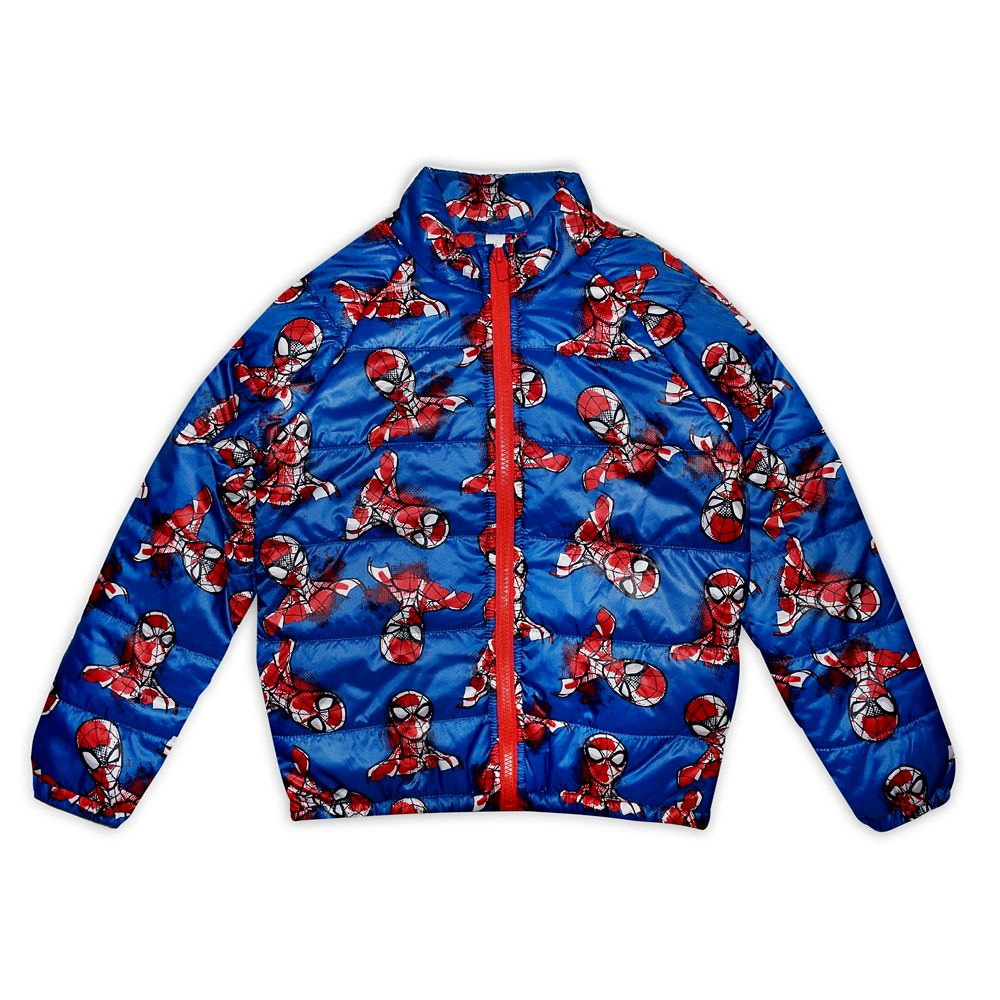 Spider-Man Lightweight Puffy Jacket for Boys