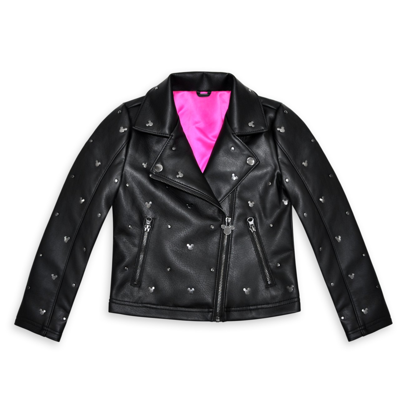 Mickey Mouse Faux Leather Kids Jacket