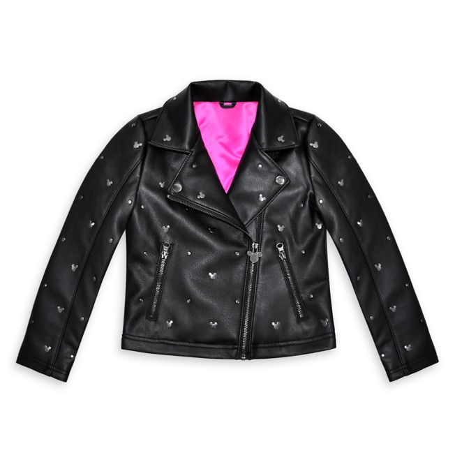 Mickey Mouse Faux Leather Jacket for Kids