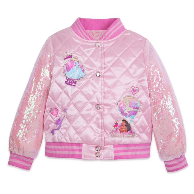 Disney Princess Quilted Varsity Jacket for Kids