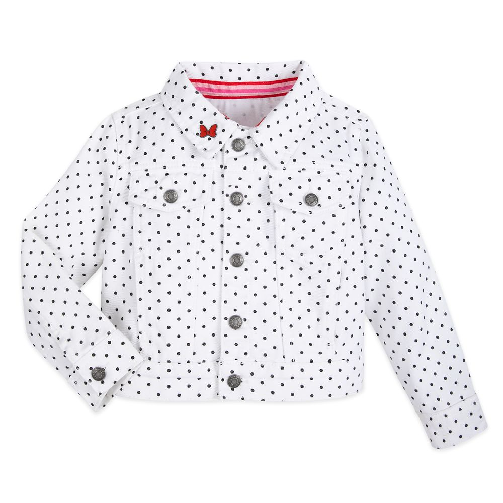 Minnie Mouse Denim Jacket for Girls – White