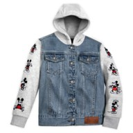 Mickey Mouse Hooded Denim Jacket for Kids