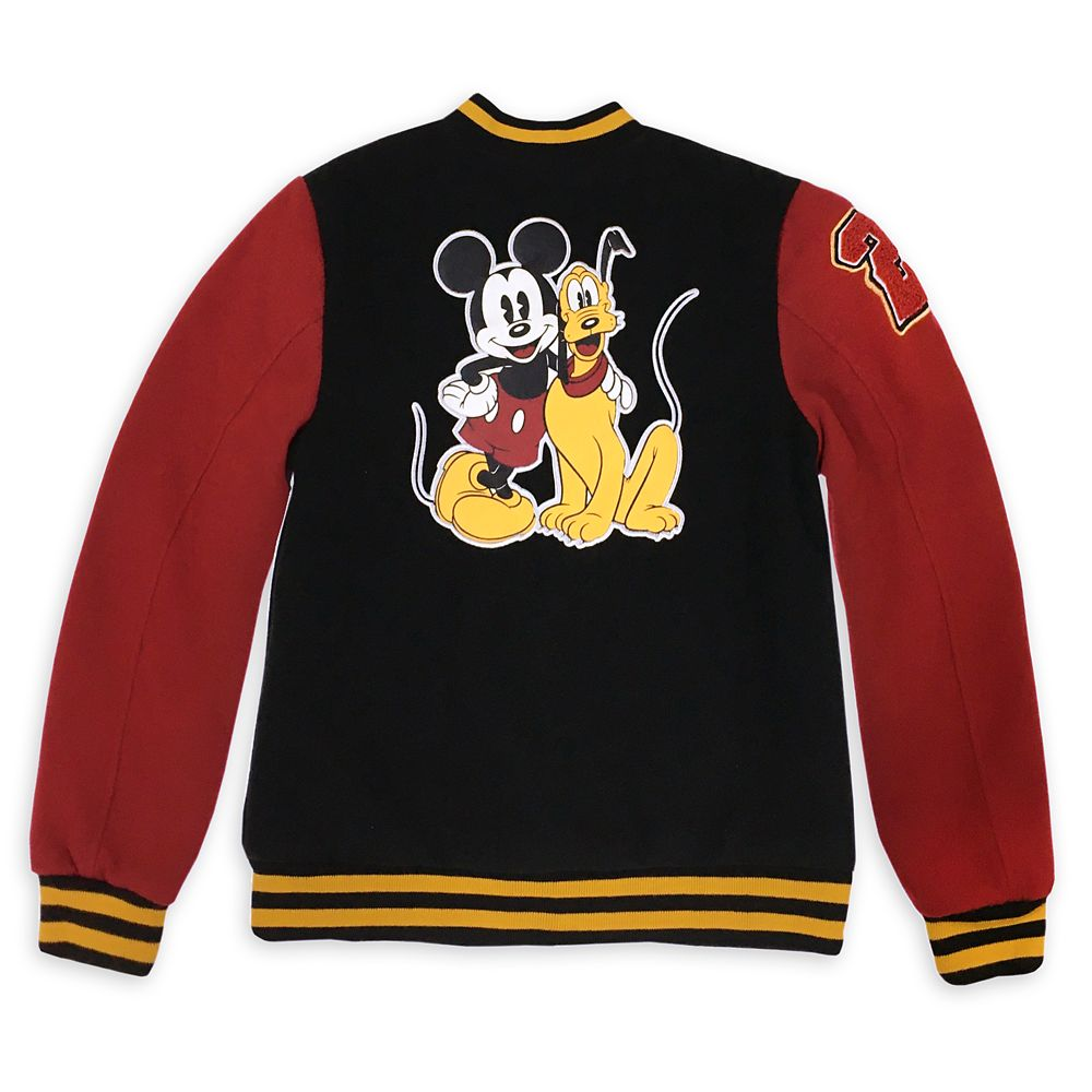 Mickey Mouse and Pluto Varsity Jacket for Kids