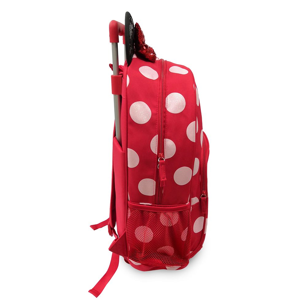 Minnie Mouse Polka Dot Rolling Backpack – Personalized