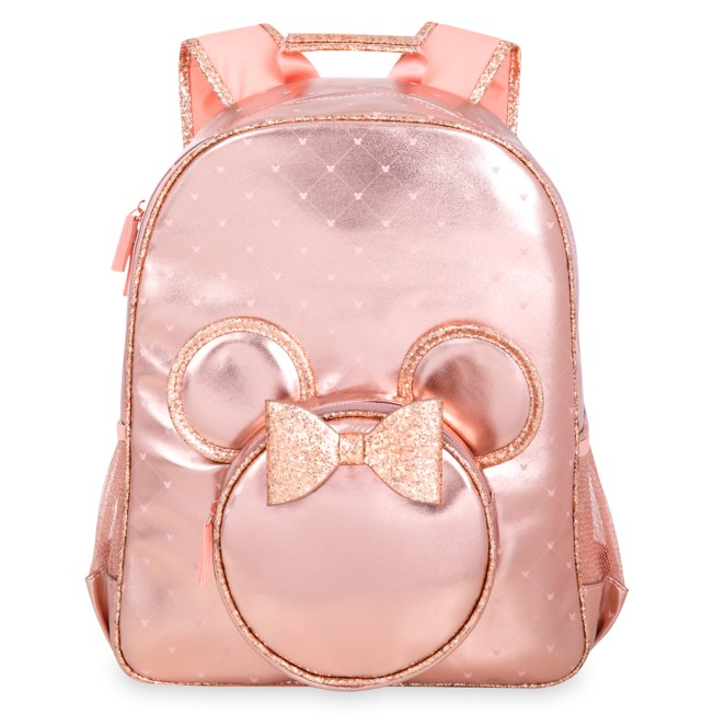 Minnie Mouse Rose Gold Backpack – Personalized