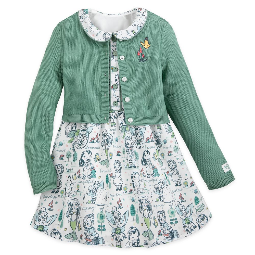 Disney Animators' Collection Dress and Cardigan Set for Girls